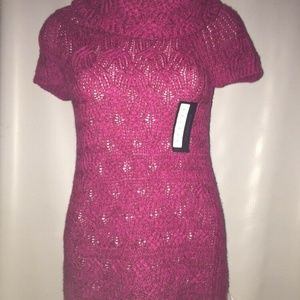 NWT Women's Worthington Cable Knit Pink Sweater M